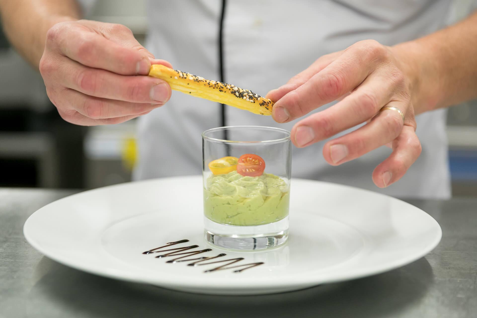 Préparation Restaurant Villa Médicis - Velouté courgettes