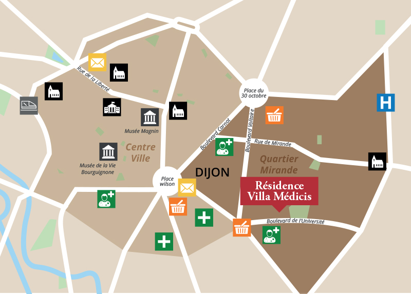 Trouver la résidence Villa Medicis Dijon