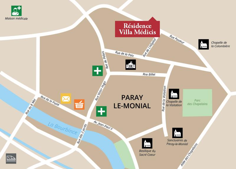 Trouver la résidence Paray-le-Monial