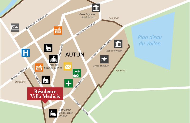 Carte où trouver la résidence senior Autun