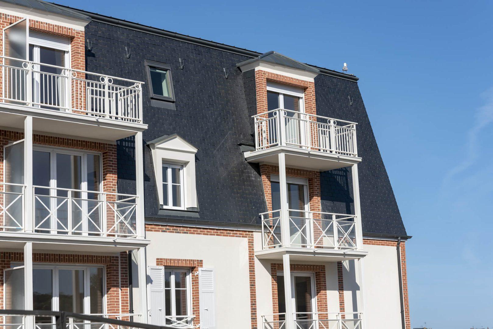 Balcons de la résidence senior Trouville, Villa Medicis Trouville
