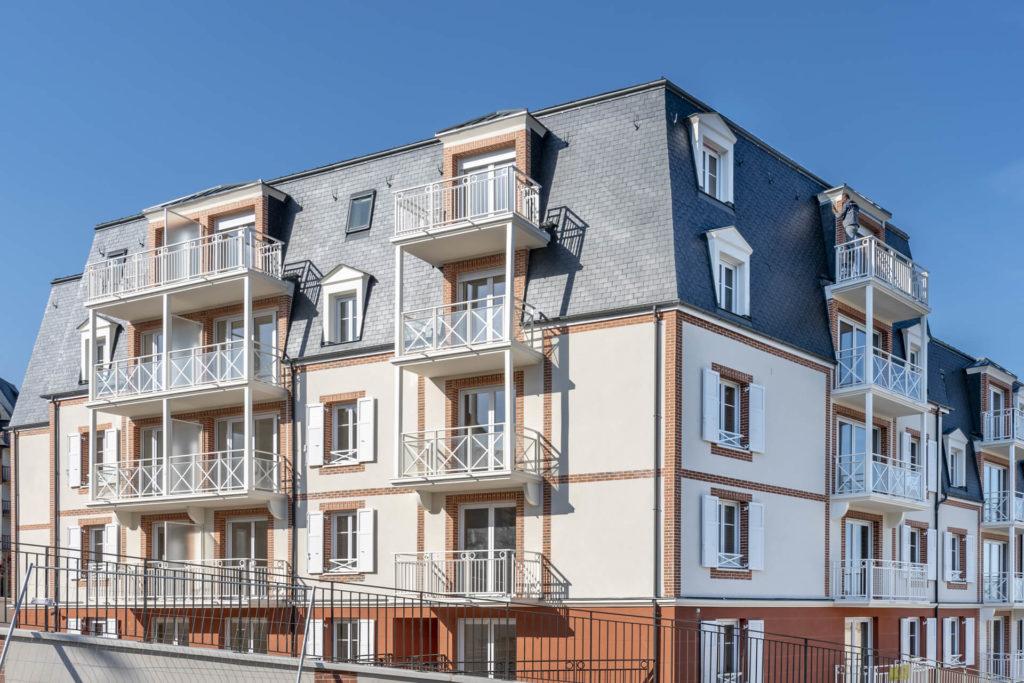 Résidence senior Trouville, vue de la façade Villa Medicis Trouville