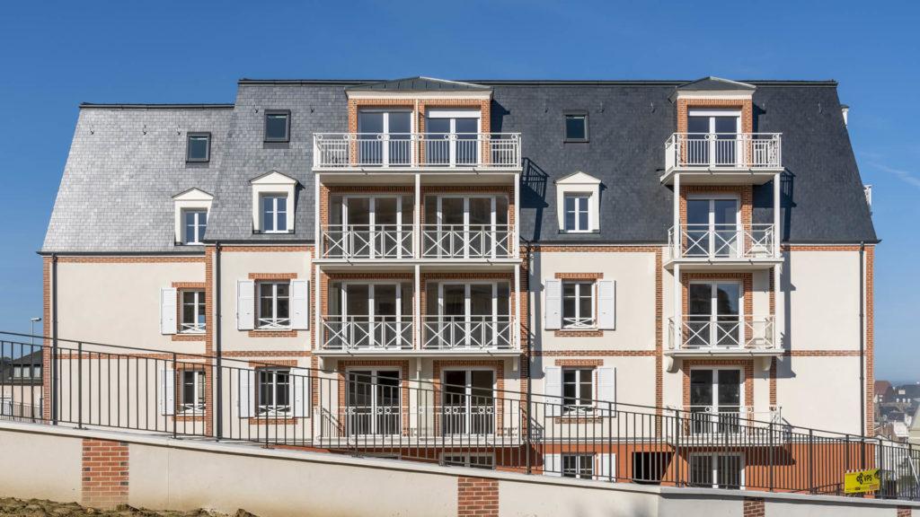 Façade de la résidence senior Trouville, Résidence Villa Medicis Trouville